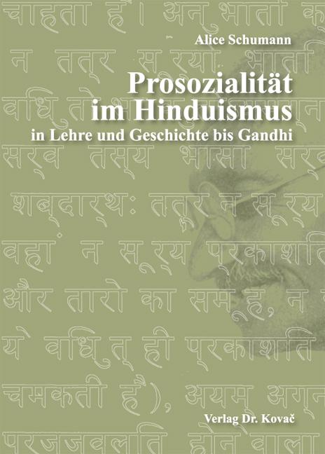 Cover: Prosozialität im Hinduismus