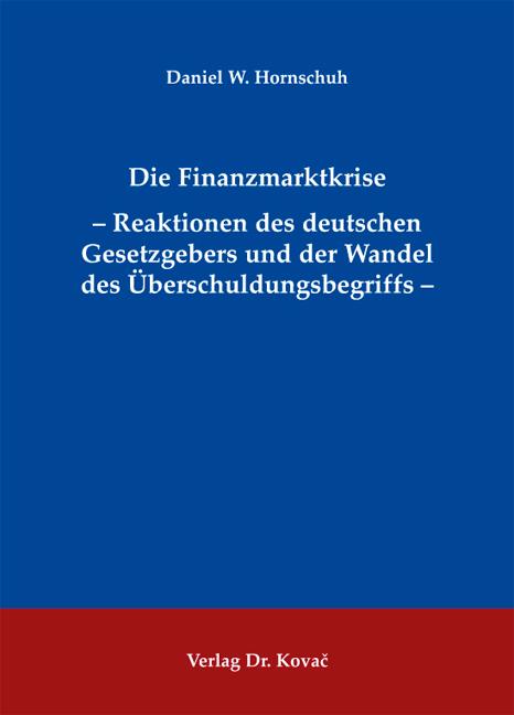 Cover: Die Finanzmarktkrise