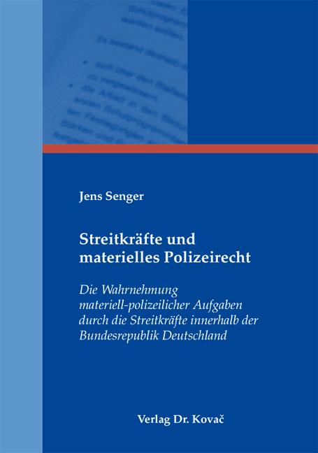 Cover: Streitkräfte und materielles Polizeirecht