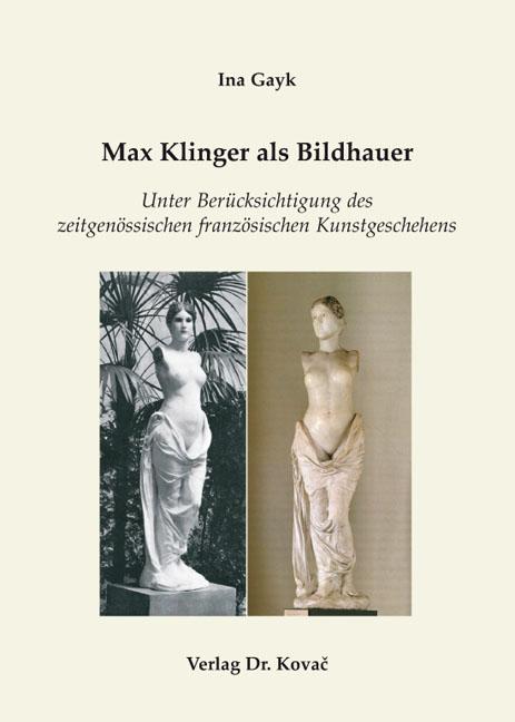 Cover: Max Klinger als Bildhauer