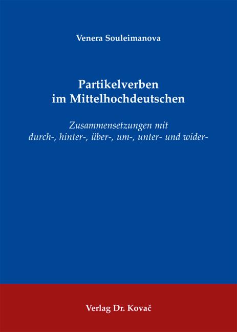Cover: Partikelverben im Mittelhochdeutschen