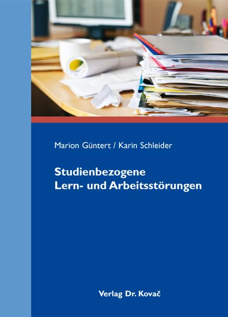 Cover: Studienbezogene Lern- und Arbeitsstörungen