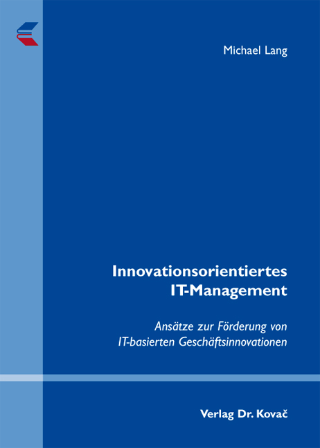 Cover: Innovationsorientiertes IT-Management