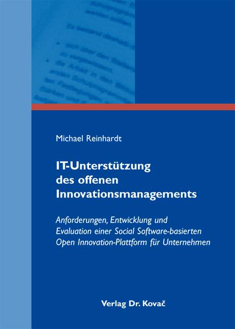 Cover: IT-Unterstützung des offenen Innovationsmanagements