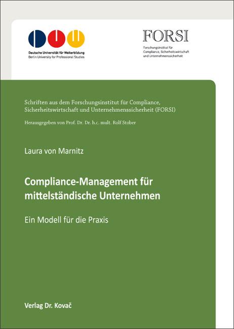 Cover: Compliance-Management für mittelständische Unternehmen