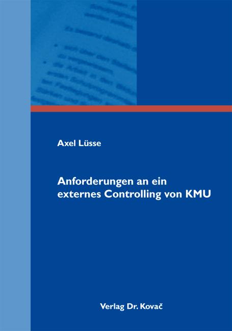Cover: Anforderungen an ein externes Controlling von KMU