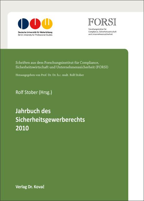 Cover: Jahrbuch des Sicherheitsgewerberechts 2010