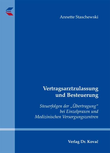 Cover: Vertragsarztzulassung und Besteuerung