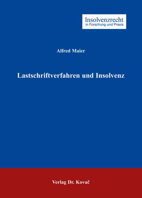 Cover: Lastschriftverfahren und Insolvenz