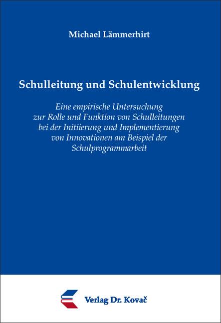 Cover: Schulleitung und Schulentwicklung