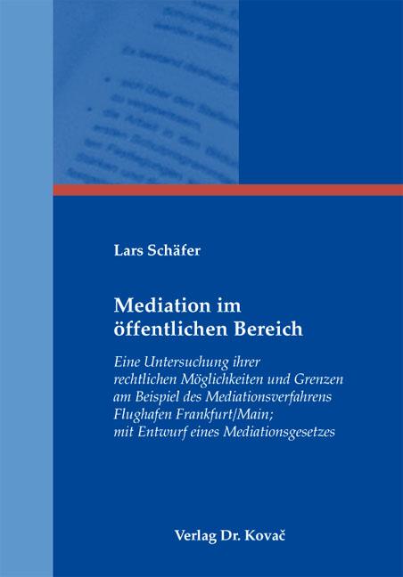 Cover: Mediation im öffentlichen Bereich