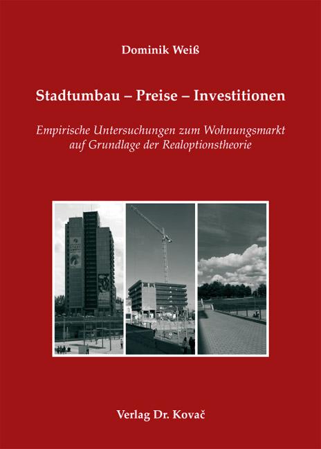 Cover: Stadtumbau – Preise – Investitionen