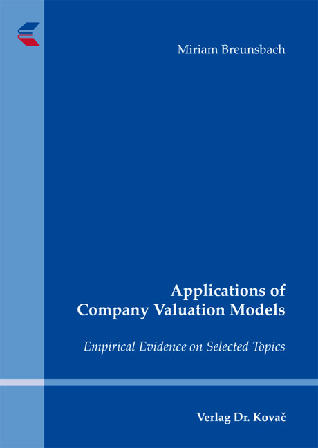 Cover: Applications of Company Valuation Models
