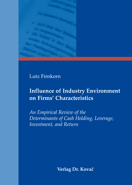 Cover: Influence of Industry Environment on Firms' Characteristics