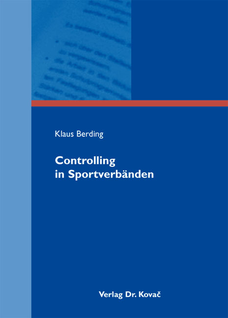 Cover: Controlling in Sportverbänden
