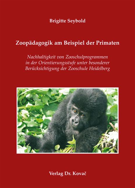 Cover: Zoopädagogik am Beispiel der Primaten