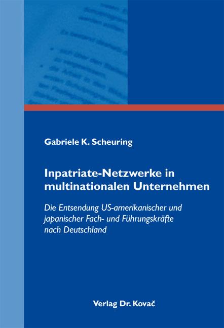 Cover: Inpatriate-Netzwerke in multinationalen Unternehmen