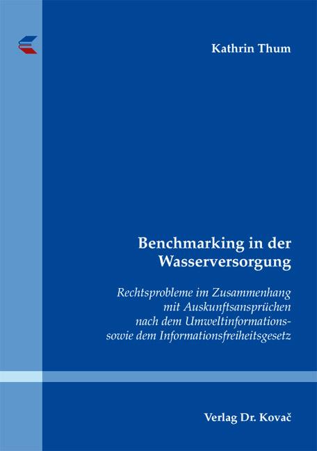 Cover: Benchmarking in der Wasserversorgung