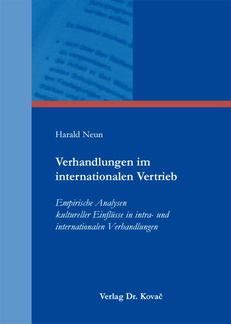 Cover: Verhandlungen im internationalen Vertrieb
