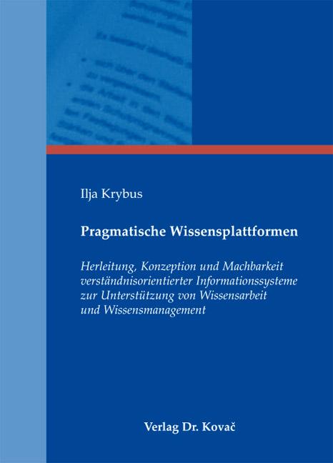 Cover: Pragmatische Wissensplattformen