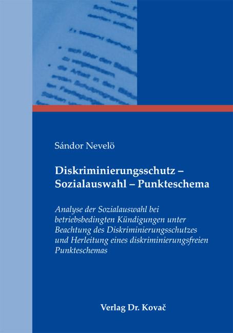 Cover: Diskriminierungsschutz – Sozialauswahl – Punkteschema