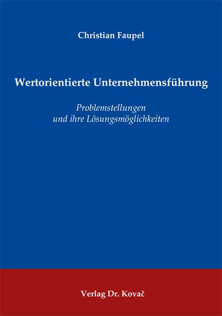 Cover: Wertorientierte Unternehmensführung