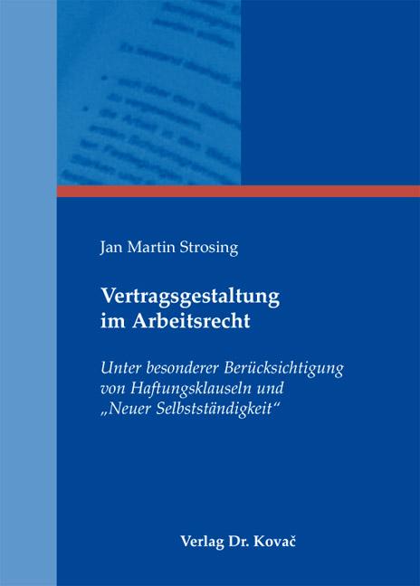Cover: Vertragsgestaltung im Arbeitsrecht
