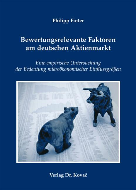 Cover: Bewertungsrelevante Faktoren am deutschen Aktienmarkt