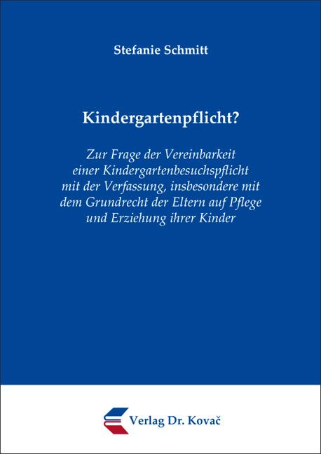 Cover: Kindergartenpflicht?