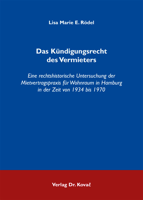 Cover: Das Kündigungsrecht des Vermieters