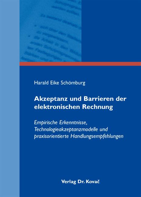 Cover: Akzeptanz und Barrieren der elektronischen Rechnung