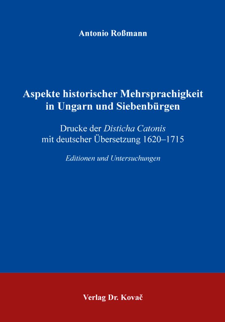 Cover: Aspekte historischer Mehrsprachigkeit in Ungarn und Siebenbürgen