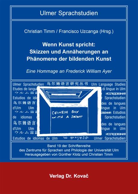 Cover: Wenn Kunst spricht: Skizzen und Annäherungen an Phänomene der bildenden Kunst