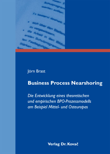 Cover: Business Process Nearshoring