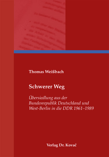 Cover: Schwerer Weg