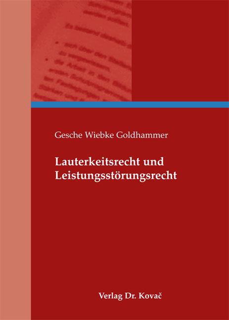 Cover: Lauterkeitsrecht und Leistungsstörungsrecht