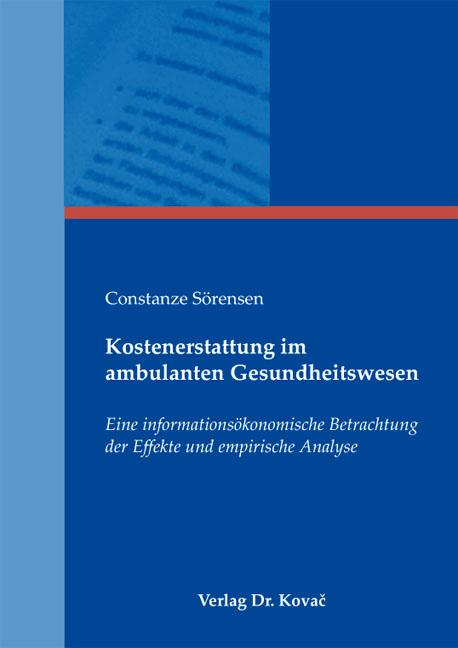 Cover: Kostenerstattung im ambulanten Gesundheitswesen