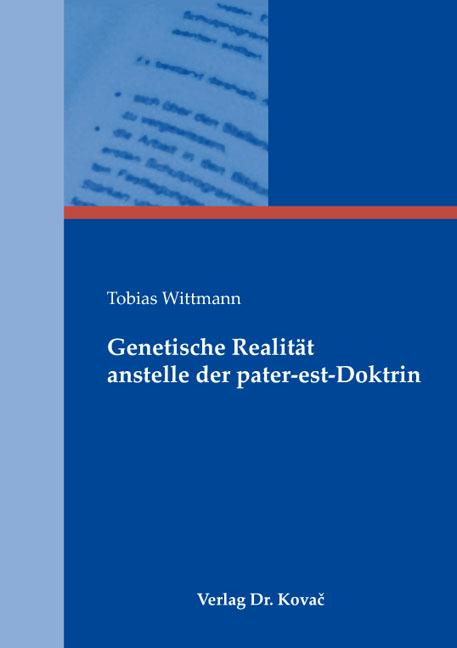 Cover: Genetische Realität anstelle der pater-est-Doktrin