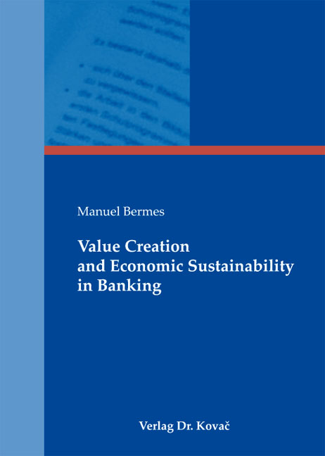 Cover: Value Creation and Economic Sustainability in Banking