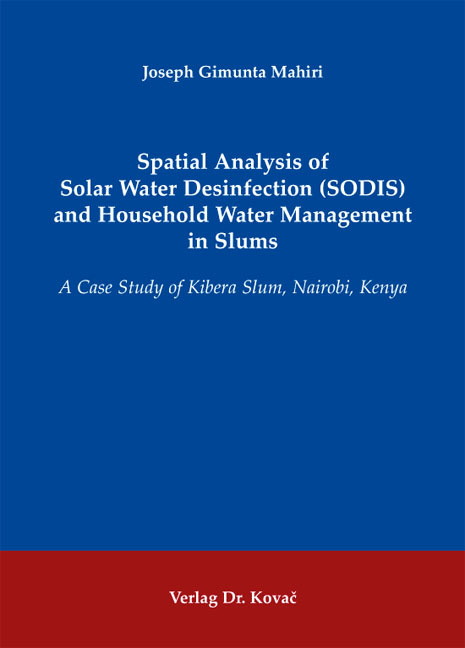 Cover: Spatial Analysis of Solar Water Desinfection (SODIS) and Household Water Management in Slums