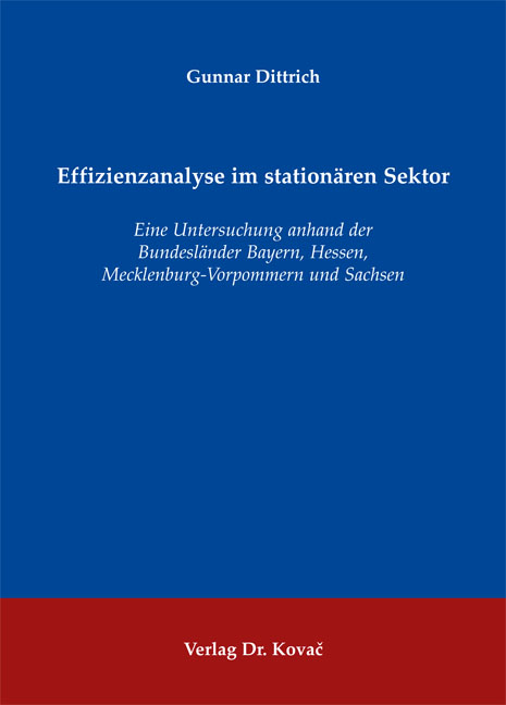 Cover: Effizienzanalyse im stationären Sektor