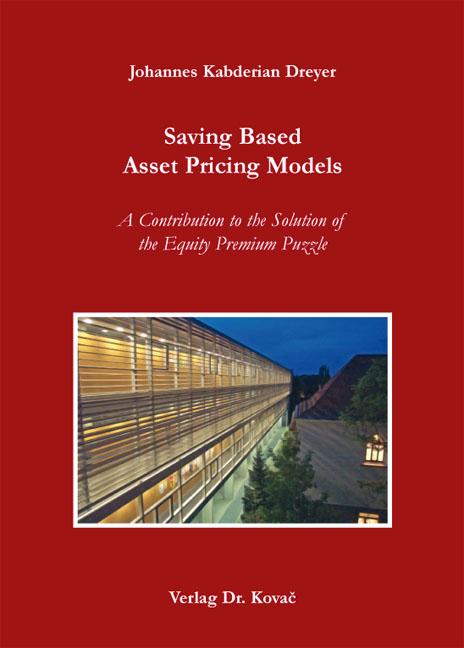 Cover: Saving Based Asset Pricing Models
