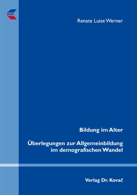 Cover: Bildung im Alter