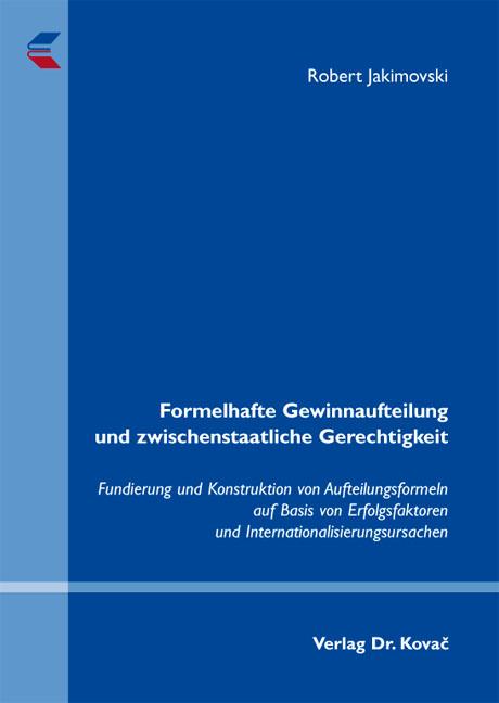 Cover: Formelhafte Gewinnaufteilung und zwischenstaatliche Gerechtigkeit