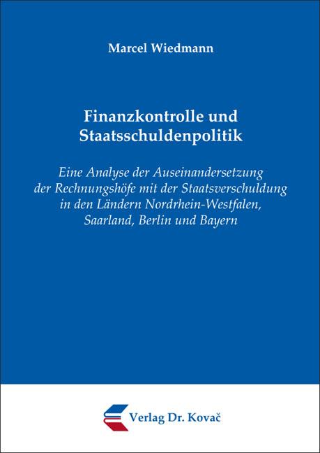Cover: Finanzkontrolle und Staatsschuldenpolitik