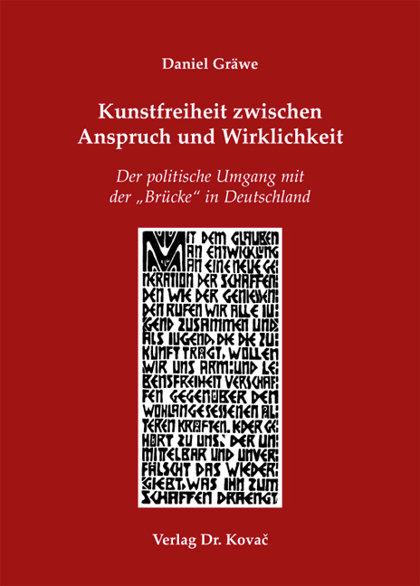 Cover: Kunstfreiheit zwischen Anspruch und Wirklichkeit