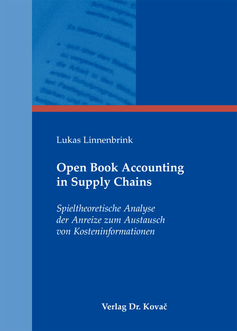 Cover: Open Book Accounting in Supply Chains