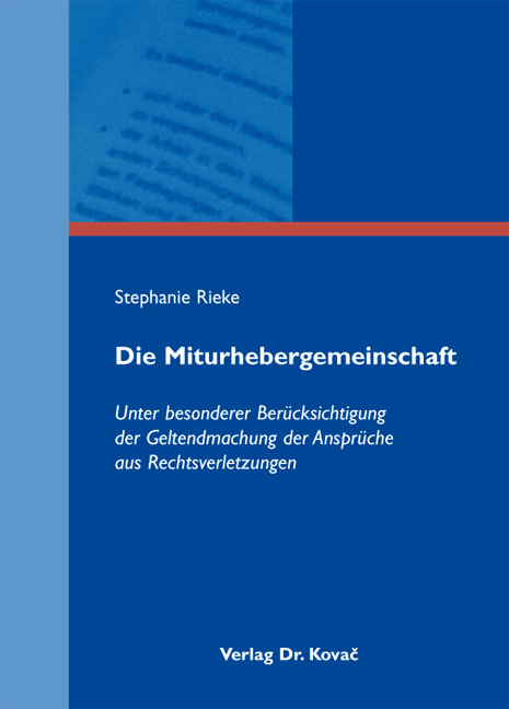 Cover: Die Miturhebergemeinschaft