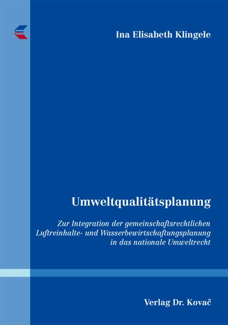 Cover: Umweltqualitätsplanung
