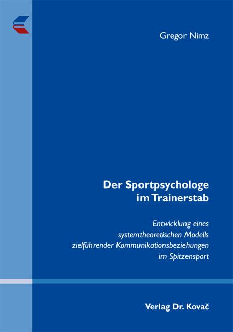 Cover: Der Sportpsychologe im Trainerstab